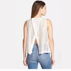 Madewell Open back Eyelet Crop Top M